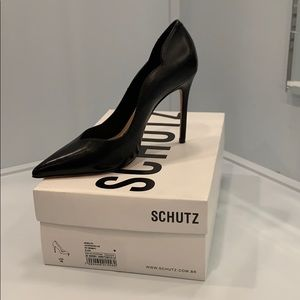 Schutz Black Heels, Size 7